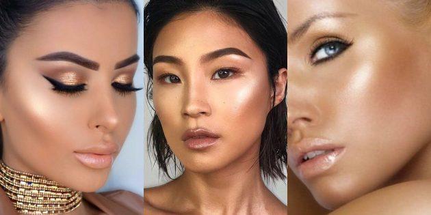 Новогодний макияж: золотое сияние