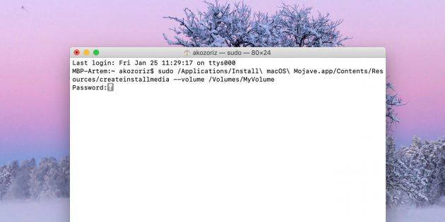 Как сделать загрузочную флешку с macOS: команда в окне «Терминала» зависит от устанавливаемой версии ОС
