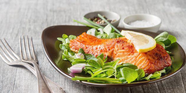 Как приготовить ужин на скорую руку: жареный лосось с лимоном