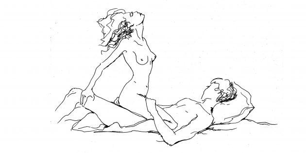 Поза «Лёжа на спине с поддержкой — женщина сверху»