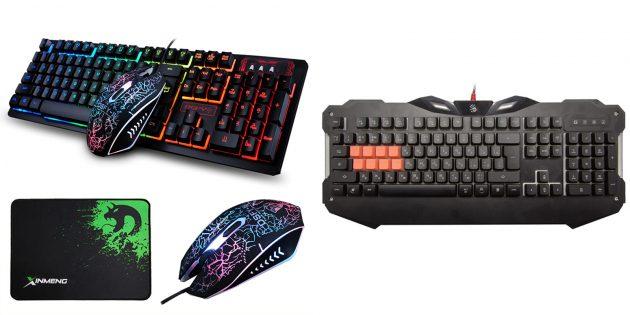 Подарки мужу на 23Февраля: Игровая клавиатура и мышь