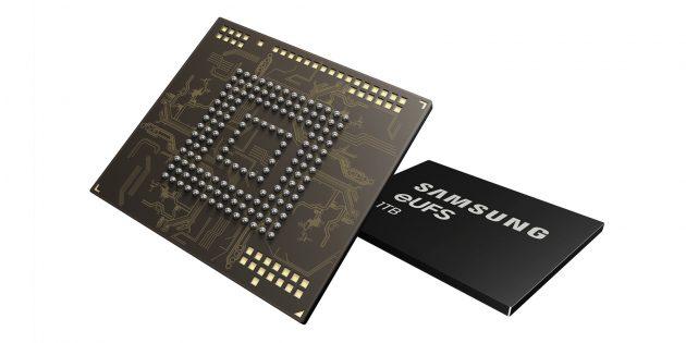 Samsung eUFS: память на смартфонах возрастёт до 1ТБ