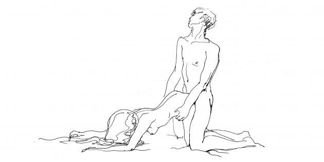 Поза «Сзади, стоя на коленях» (если боль в спине у женщины)