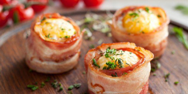 Ужин на скорую руку: яичные маффины с сыром