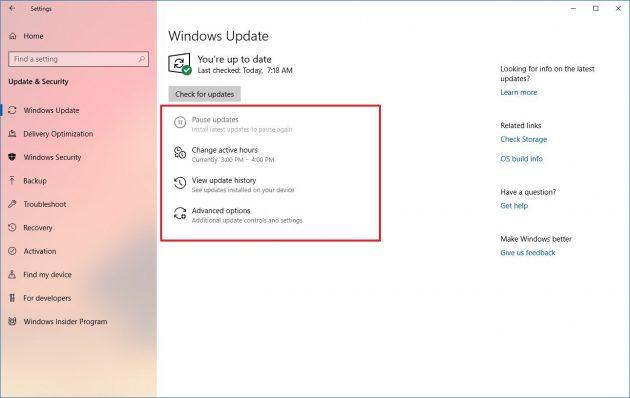 Весеннее обновление версии Windows 10: исправления в системе обновлений