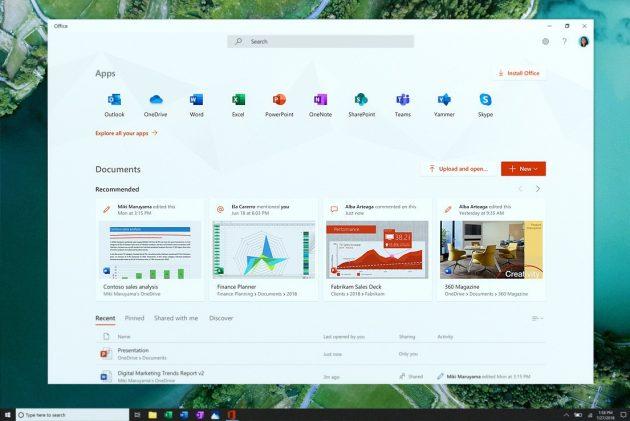 Весеннее обновление версии Windows 10: новое офисное приложение
