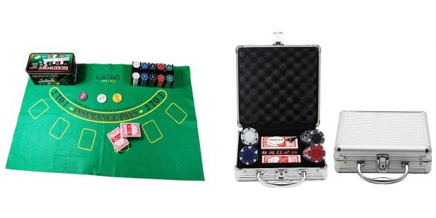 Что подарить парню на 23Февраля: Набор для игры в покер
