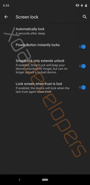 Android Q: блокировка экрана