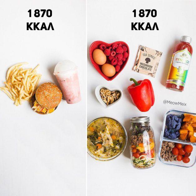 Маленькая порция не поможет похудеть. 27 иллюстраций, доказывающих это