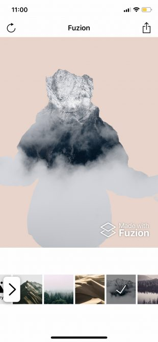 Фоторедактор лица Fuzion для iOS: фон