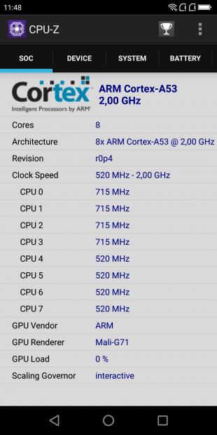 Обзор Poptel P60: CPU-Z (SOC)