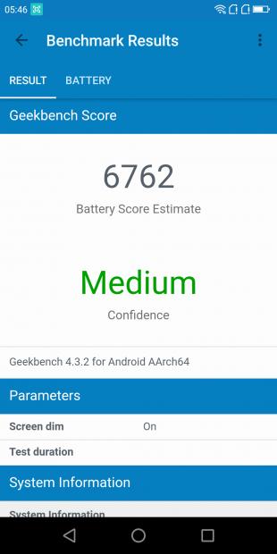 Обзор Poptel P60: Geekbench Score