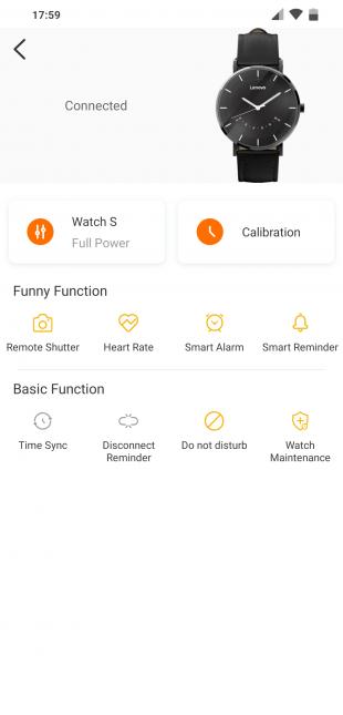 Lenovo Watch S: возможности настройки