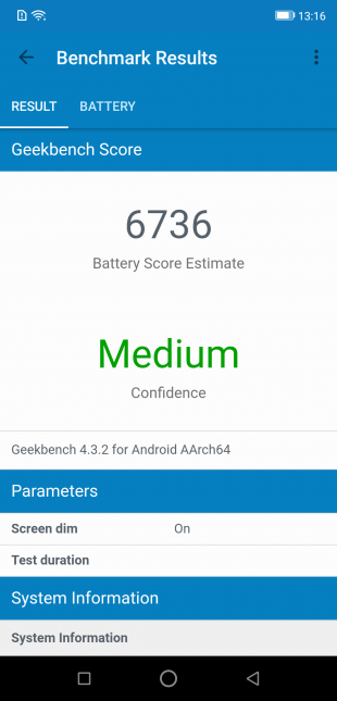 Ulefone Armor 6: тест Geekbench