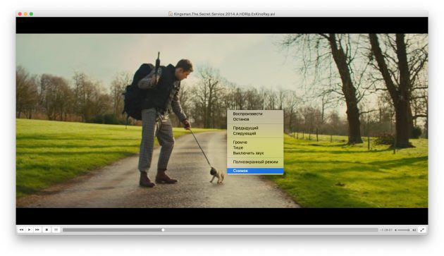 Как найти фильм, не зная названия: Скриншот в VLC