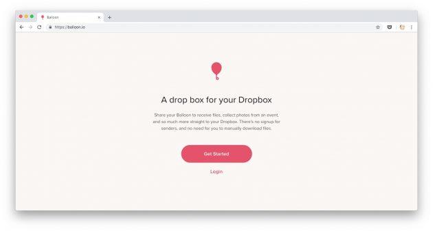 Способы загрузить в Dropbox файлы: pагружайте файлы черезBalloon.io