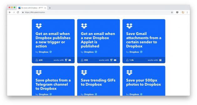 Способы загрузить в Dropbox файлы: сохраняйте файлы автоматически через IFTTT или Zapier