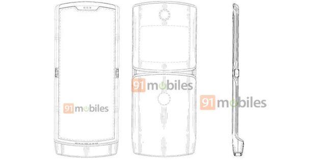 Патент раскрыл дизайн нового Motorola RAZR 2019