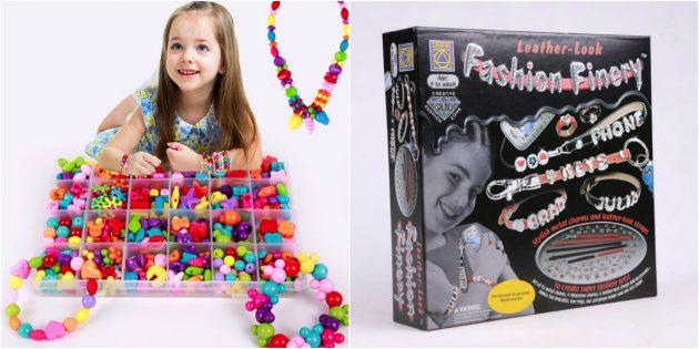 что подарить дочке на 8марта: набор для создания украшений