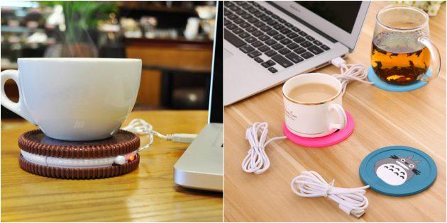 что подарить коллеге на 8марта: USB-подогреватель для кружки