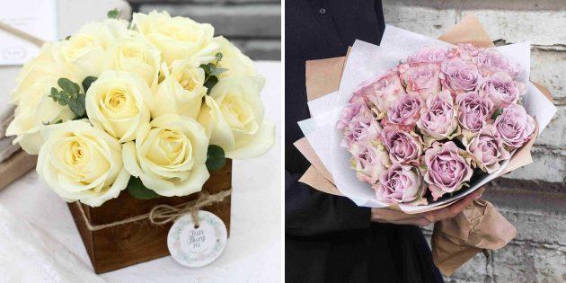 Что подарить девушке на 14февраля: цветы с доставкой