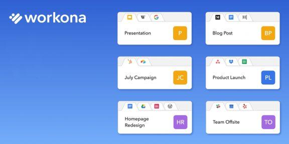 Workona для Chrome разделит все ваши вкладки на группы
