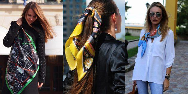 Женская мода весны-лета 2019: Образы с шёлковыми платками