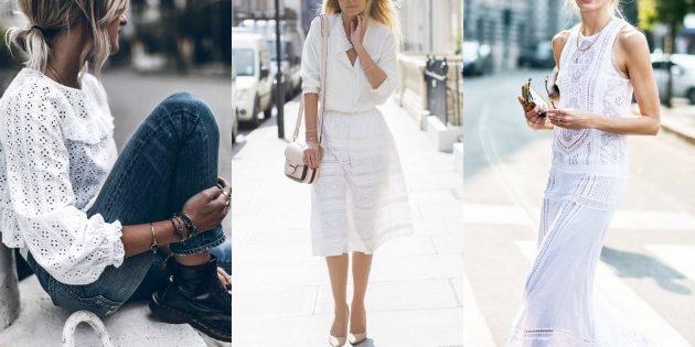 Модные тенденции 2019года: Английская вышивка