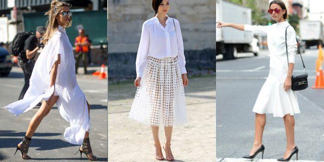 Женская мода весны-лета 2019: Всё белое