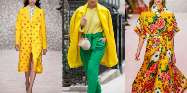 Модные цвета 2019года: золотая осина