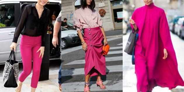 Модные цвета 2019года: розовый павлин