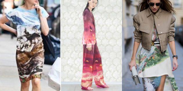 Мода 2019: Пейзажные принты