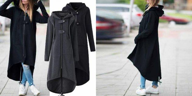Женское пальто-толстовка