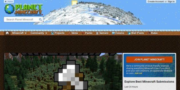 Где скачать моды для Minecraft: Planet Minecraft