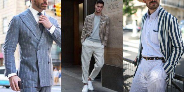 Мужская мода 2019: Пиджаки в широкую полоску
