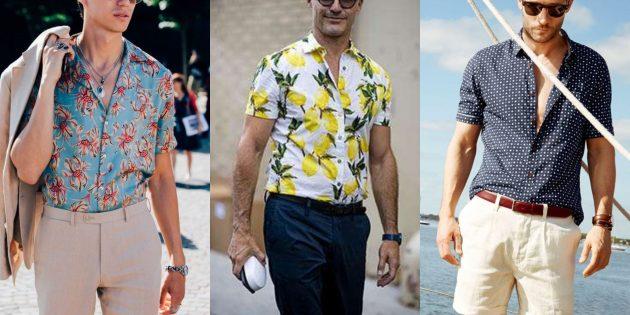 Мужская мода 2019: Рубашки с контрастным принтом