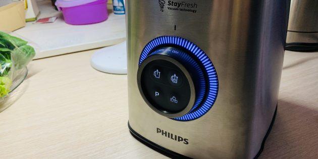 Обзор Philips HR3752: Потенциометр и кнопки