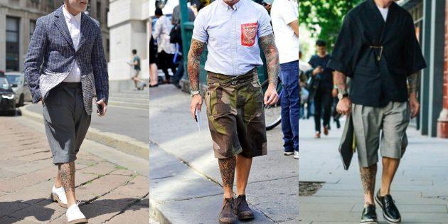 Мужская мода 2019: Удлинённые шорты