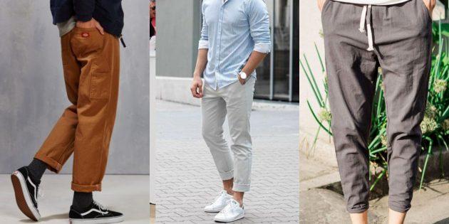 Мужская мода 2019: Укороченные брюки свободного кроя