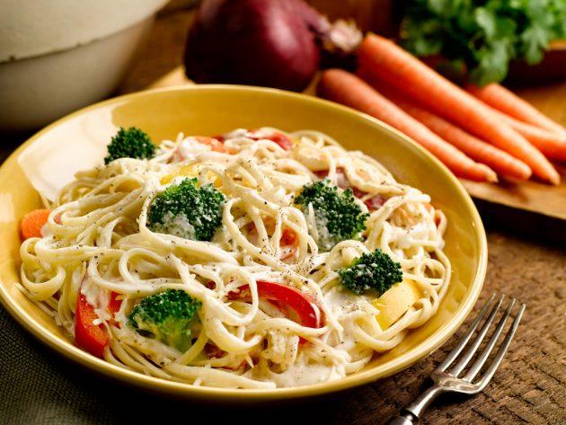 Рецепты ужина на скорую руку: паста примавера