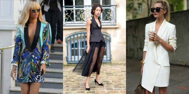 Женская мода 2019: Платья-смокинги