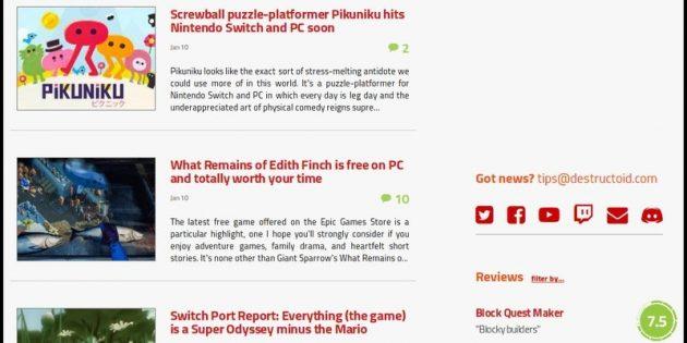 Издание Destructoid следит за сегментом инди-игр