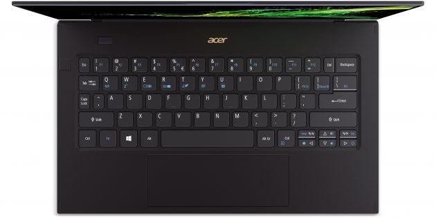 CES 2019: Клавиатура Acer Swift 7