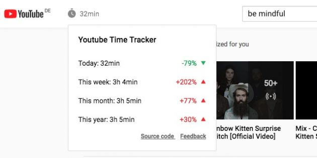 YouTube Time Tracker
