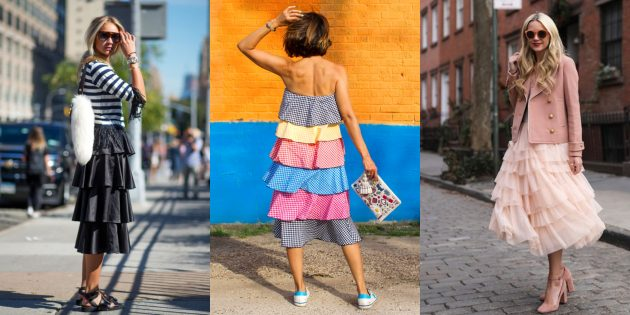 Женская мода 2019: Многоуровневые платья и юбки