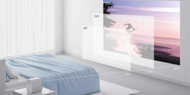 Проектор для домашнего кинотеатра Mi Home Projector Youth Version: диагональ картинки до 120дюймов