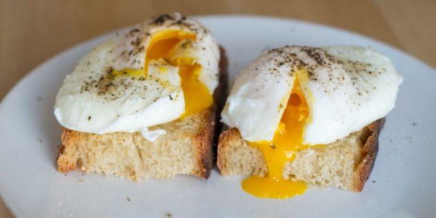 Блюда из яиц: яйца-пашот