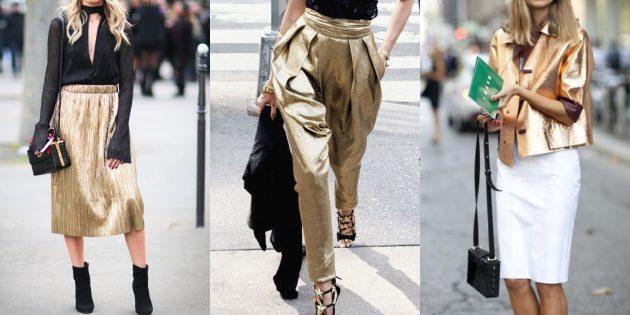 Женская мода 2019: Золотые акценты