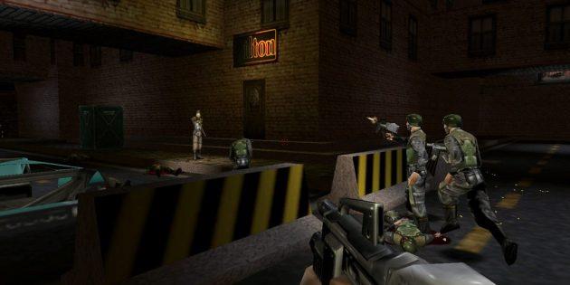Старые игры на ПК: Перестрелка в Deus Ex