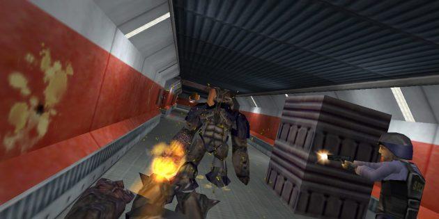 Старые игры на ПК: Перестрелка в Half-Life